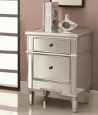 Coaster 950291 ACCENT CABINET (ANTIQUE SILVER)