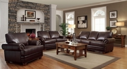 Coaster Colton 504411-12 SOFA SET (BROWN)