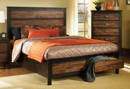Coaster Conway 202301KW C KING BED (BROWN/BLACK)