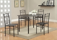 Coaster Dixon 120573 5 Pc Set (Black Metal)