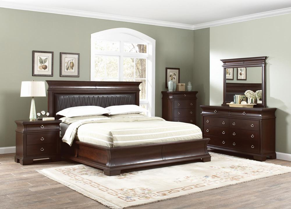 Coaster Kurtis 202611Q 13 14 Bedroom Set Dark Cherry