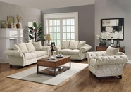 Coaster Willow 503761-62 SOFA SET (PLAIN/PRINTED OATMEAL)
