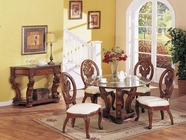 Coronado Oak Round Table Set - Acme 8734-8611