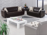 Empire Queens Leather Sofa Set