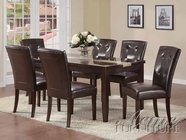 Faux Marble Top Dining Set - Acme 16650-7054-