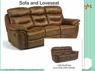 Flexsteel 1585-604 140-80 Rocking Recling Loveseat