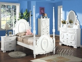 Flora White Post Bedroom Set - Acme 1660T-64-65