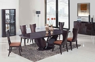 Global D52-Wenge-Dt-Dc Dining Table Set
