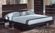 Global Furniture AURORA-W-QB Aurora-W Wenge Queen Bed