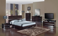 Global Furniture AURORA-W-QB-DR-MR Wenge-Glossy Bedroom Set