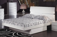 Global Furniture AURORA-WH-FB Aurora-Wh White Full Bed