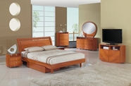 Global Furniture EMILY-CH-QB-DR-MR Cherry Glossy Bedroom Set