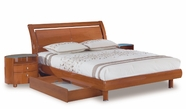 Global Furniture EMILY-CH-QB Emily-Ch Cherry Queen Bed