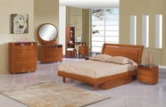Global Furniture EMILY-KIDS-CH-TB-KDR-KMR Kids Cherry Glossy Bedroom Set
