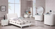 Global Furniture EMILY-KIDS-WH-FB Emily-Kids-Wh White Full Bed