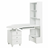 Global Furniture EMILY-KIDS-WH-KSD Emily-Kids-Wh White Kids Study Desk