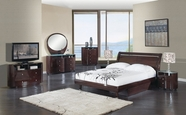Global Furniture EMILY-W-QB-DR-MR Emily Wenge-Glossy Bedroom Set