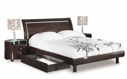 Global Furniture EMILY-W-QB Emily-W Wenge Queen Bed