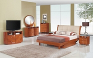 Global Furniture Evelyn-ch-QB-DR-MR Cherry Glossy Bedroom Set