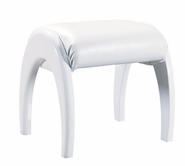 Global Furniture EVELYN-KIDS-WH-KSL Evelyn-Kids-Wh White Kids Stool