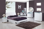 Global Furniture EVELYN-KIDS-WH-TB-KDR-KMR Evelyn Kids White Glossy Bedroom Set