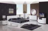 Global Furniture GIA-QB-DR-MR Gia White Glossy Bedroom Set