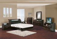 Global Furniture MADISON-QB-DR-MR Wenge Glossy Bedroom Set