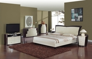 Global Furniture NEW-YORK-BEI-W-QB-DR-MR Beige-wenge Glossy Bedroom Set
