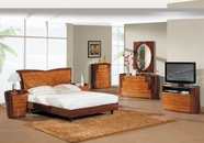 Global Furniture NEW-YORK-QB-DR-MR Kokuten Glossy Bedroom Set