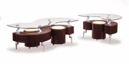 Global Furniture T288MC-2XME Mahogany Occasional Table Set