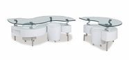 Global Furniture T288WHC-2XWHE White Occasional Table Set