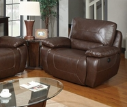 Global Furniture U1027-C Power Brown Bonded Leather Reclining Big Chair