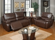 Global Furniture U1027-RS-C Power Brown Bonded Leather Reclining set