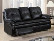 Global Furniture U1078-S Black Printed Micro Sofa