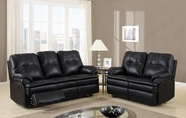 Global Furniture U1078-S+L Black Printed Micro Sofa And Loveseat