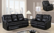 Global Furniture U1078-S+L+C Black Printed Micro Sofa And Loveseat And Chair