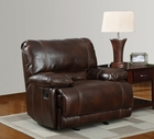 Global U1953-R Brown Bonded Leather Glider Recliner