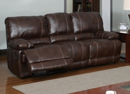 Global Furniture U1953-RS Brown Bonded Leather Reclining Sofa