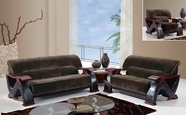 Global Furniture U2033 CHAMP CHOC-S+L+C Champion Chocolate Sofa And Loveseat And Chair