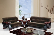 Global Furniture U2033 CHAMP CHOC-S+L Champion Chocolate Sofa And Loveseat