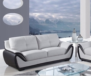 Global Furniture U3250-GR/BL-S Bonded Leather Sofa