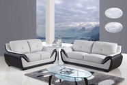 Global Furniture U3250-GR/BL-S+L Bonded Leather Sofa And Loveseat