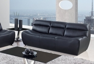 Global Furniture U3730-BL-S Bonded Leather Sofa