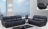 Global Furniture U3730-BL-S+L+C Bonded Leather Sofa And Loveseat And Chair