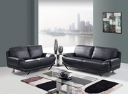 Global Furniture U4030-BL-S+L Bonded Leather Sofa And Loveseat