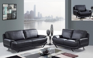 Global Furniture U4030-BL-S+L+C Bonded Leather Sofa And Loveseat And Chair