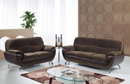 Global Furniture U4160-CHAMP CHOC/CHOC-S+L Champion Chocolate Sofa And Loveseat