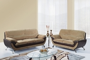 Global Furniture U4160-CHAMP FROTH/CHOC-S+L Champion Froth Sofa And Loveseat
