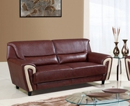 Global Furniture U4180-S Br/Bei Bonded Leather Sofa