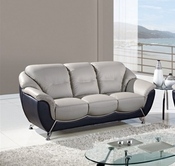 Global Furniture U6018-S Grey/Black Bonded Leather Sofa
